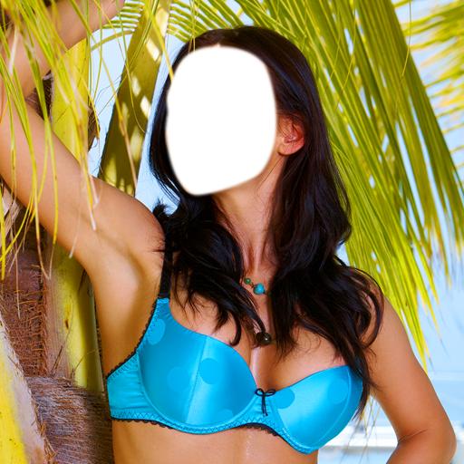 Frauen-Bikini-Foto-Montage