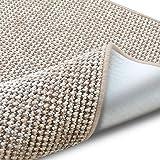 casa pura Teppich Grandeur   pflegeleichtes Bouclé   viele Größen   für Flur, Wohnzimmer, Esszimmer, Küche, Schlafzimmer, Büro   gekettelt (Sand - 160x230 cm)