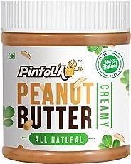 Pintola All Natural Creamy Peanut Butter, 350G (Unsweetened, Non-GMO, Gluten Free, Vegan)