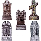 JOYIN 43cm de Altura Tumbas de Halloween (5 Pack), con 12 Piezas estaca de Metal para Decoraciones de Halloween