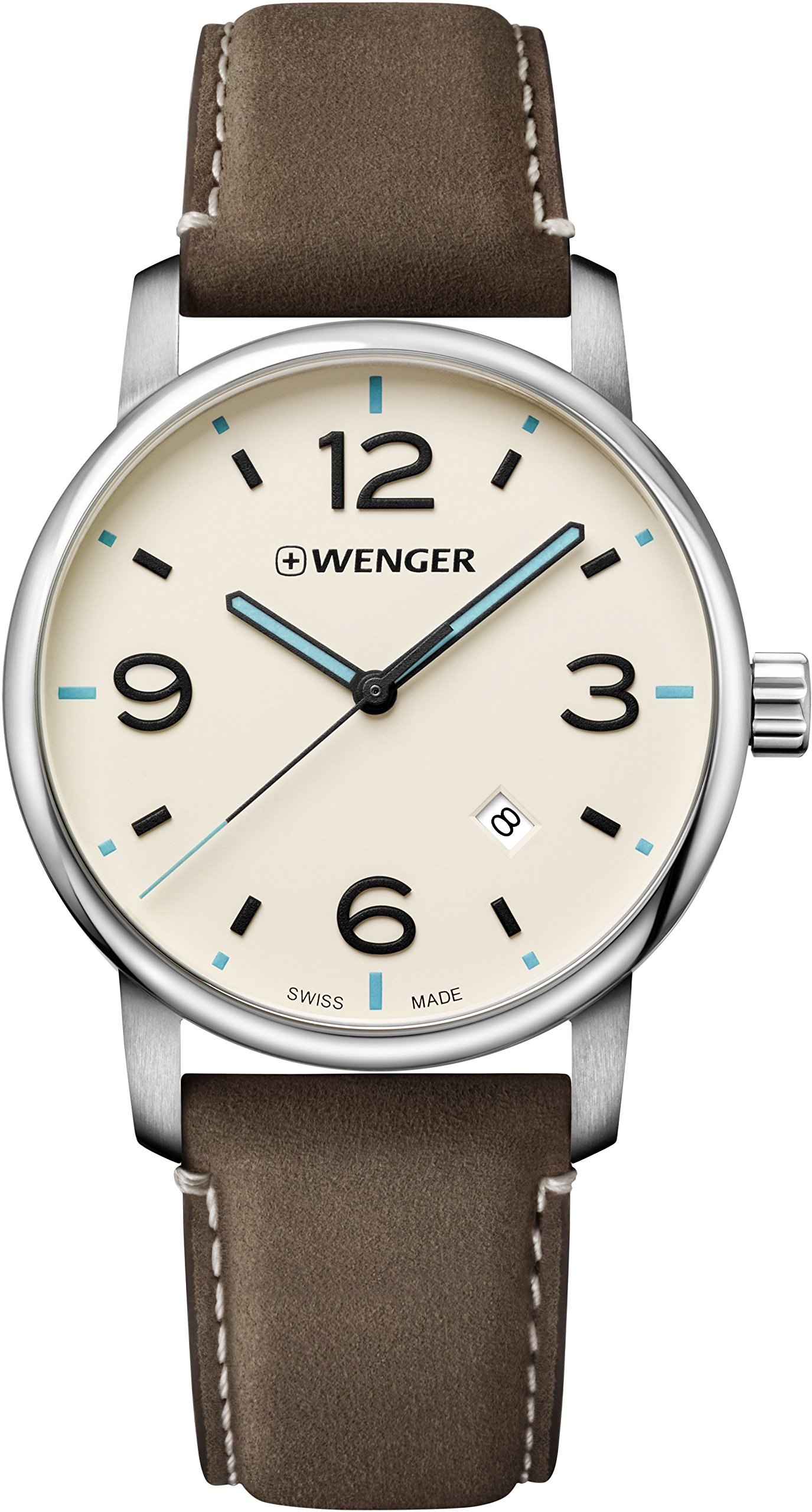 Wenger Unisex Analogue Quartz Watch with Leather Strap 01.1741.118