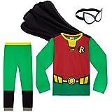 Teen Titans Go! Pijama Niño, Pijamas Niños de Superheroes con Capa y Mascara, Ropa Niño de Algodon, Regalos para Niños y Niña