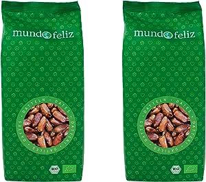 Mundo Feliz, datteri denocciolati essiccati biologici, 2 x 500 g