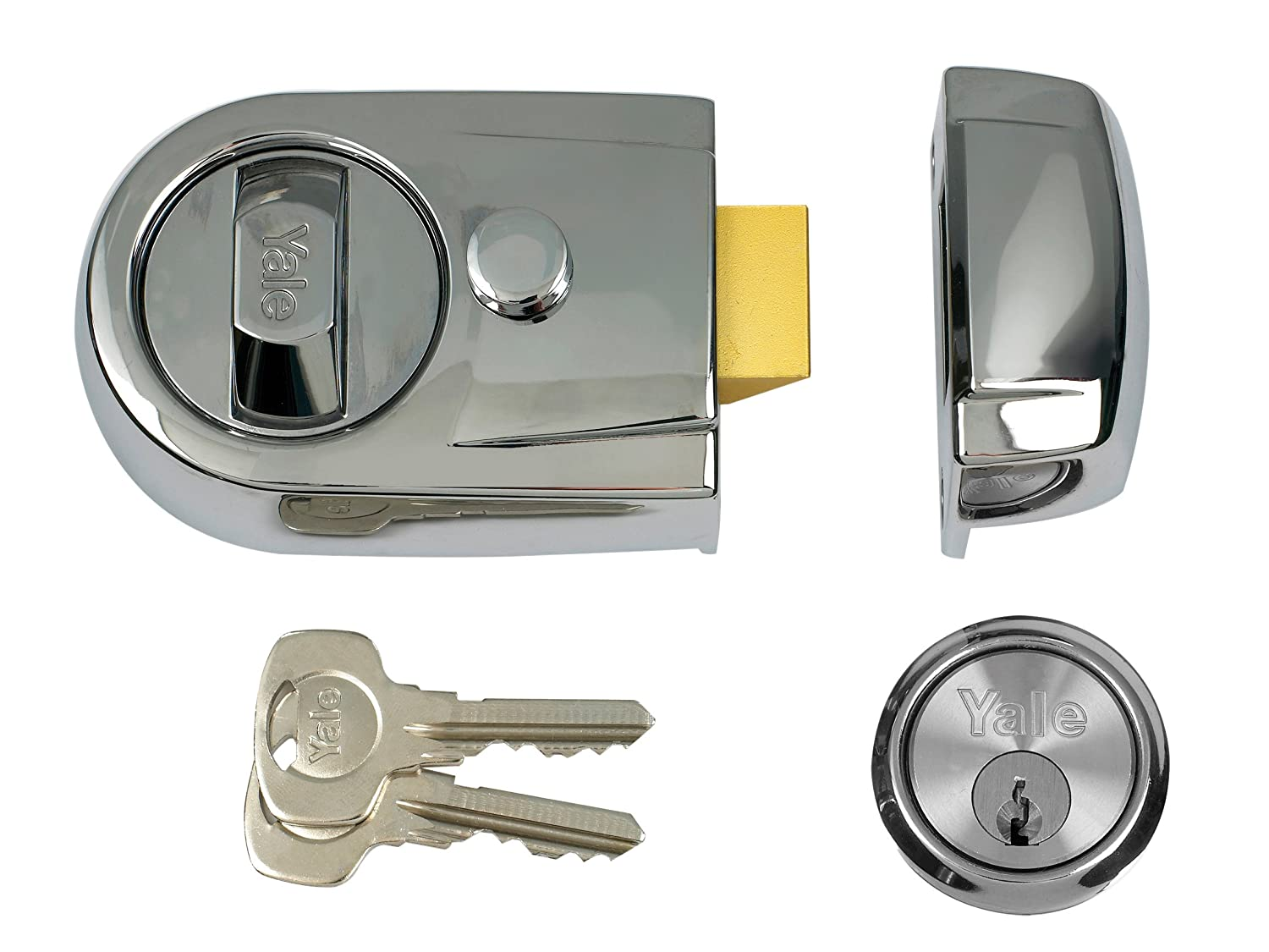 Yale Locks Y3 Nightlatch Modern Polished Chrome Finish 60 mm ...