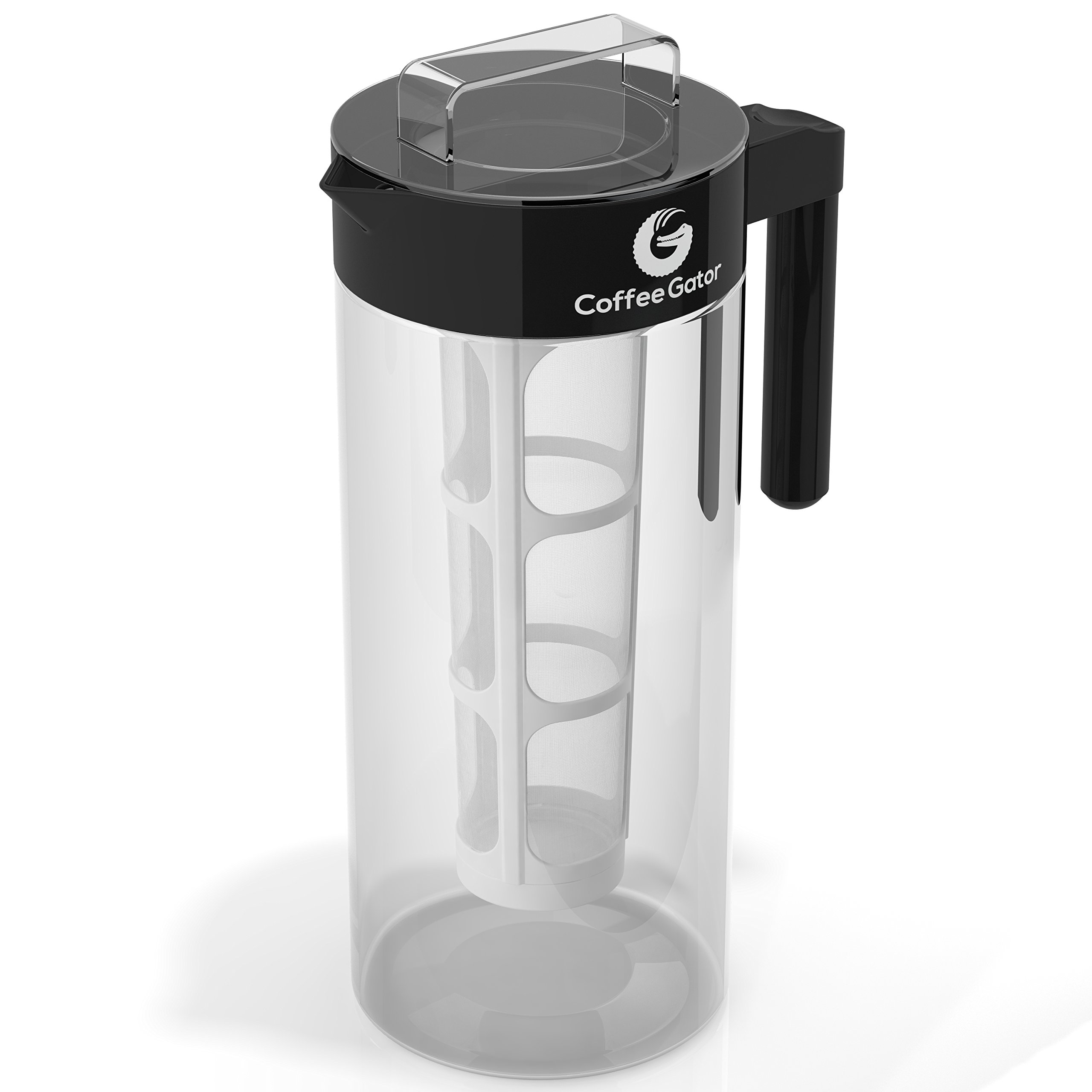 Coffee-Gator-Cold-Brew-Coffee-Maker-BPA-Free-Filter-and-Glass-Carafe-Brewing-Kit-with-Stainless-Steel-Measuring-Scoop-and-Collapsible-Loading-Funnel-Black-14-Litre