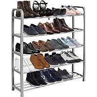 Keplin Étagère à chaussures à 5 niveaux, montage rapide sans outils nécessaires, peut contenir jusqu'à 15 à 20 paires…