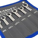 6 chiavi per tubazioni del freno SET I Chiave ad anello aperta I Chiave per tubazione del freno 8-19mm