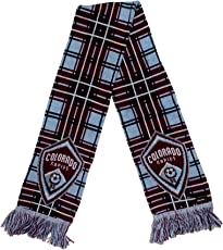 MLS Colorado Rapids Tartan Scarf, Burgundy, One Size