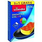 Vileda Ondattiva Milleusi Colors 3+1, Spugna, Multicolore, 13x22x2.6 cm, 4 unità