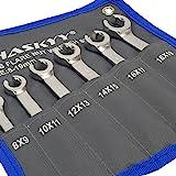 6 st. flare mutter skiftnyckel set I öppen ringnyckel I linje skiftnyckel bromslinje 8-19 mm