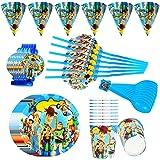 Lunriwis vajilla desechable de Toy Story, platos y vasos para cumpleaños,cumpleaños infantiles decoracion Servilletas Pancart