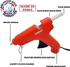 Cheston Plastic 60-Watt Glue Gun Set (Orange, 21-Pieces)