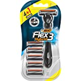 BIC Flex 3 Hybrid Men's Razor Kit - Each Contains 1 Handle and Five 3-Blade Razor Head Cartridge Refills