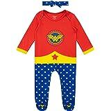Wonder Woman Pijama Entera y Venda para Niñas Bebés