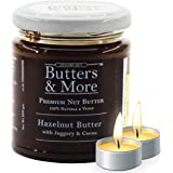 Butters & More Vegan Hazelnut Butter with Dark Cocoa & Organic Palm Jaggery (200G). Healthy Chocolate Spread. with a…