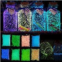 Glow in The Dark Sand, Aquarium Aquarium Dekorativer Sand Kies Felsen Leuchtkorn für Zuhause Party Wand Flasche Glas…