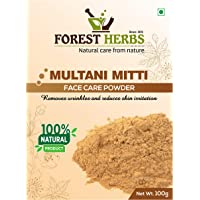 Forest Herbs 100% Natural Multani Mitti Powder (Fuller's Earth/Calcium Bentonite Clay) For Face Pack And Hair Pack - 100Gms