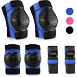 IPSXP Protective Gear Set with Elbow Pads, Knee pad Bracelets for Children Skater, Roller Blading, Skateboard, Scooter, Cycli