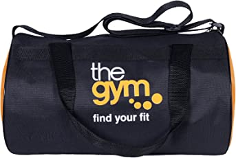Dee Mannequin 2218 Polyester Gym Duffle Bag (Black/Orange)