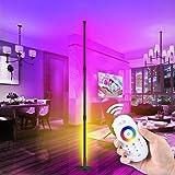 2800LM Lampadaire d'angle LED, Lampadaire RVB Couleur Réglable, Lampadaire LED Salon avec Télécommande,lumière d'atmosphère à