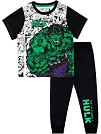 Marvel Pijamas de Manga Corta para Niños El Increíble Hulk