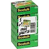 Scotch Magic Ruban Adhésif Invisible - 6 Rouleaux - 19mm x 33m - Ruban Adhésif à Usage Général pour la Réparation, l'Etiqueta