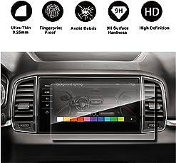 RUIYA Proteggi schermo in vetro temperato per 2017 2018 Skoda Connect Karoq Columbus Sistema di navigazione GPS, invisibile e trasparente, Crystal Clear HD Proteggi schermo, antigraffio[9,2 Pollice]