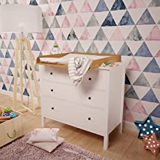 Polini Kids Wickelaufsatz Wickeltischaufsatz für Kommode Hemnes IKEA in verschiedenen Farben