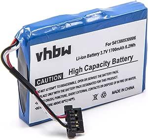 pour GPS de Navigation Medion Gopal E4430,E4435,E5455,MDPNA 150,MDPNA 470,MD95023 vhbw Batterie Li-ION 1700mAh P4410 et G025A-Ab P4210 3.7V P4410