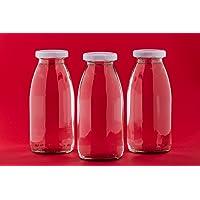6 x 250 ml, 0,25 L petites bouteilles en verre de lait en verre. dans les tailles 200 ml/250 ml/500 ml ou 1000 ml avec…
