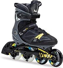 K2 Herren Fitness Inline Skates VO2 100 X Pro, Schwarz-Grau-Gelb, 30C0020.1.1
