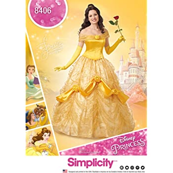 Simplicity Muster 8404 Disney Schönheit und das Biest Kostüm für ...
