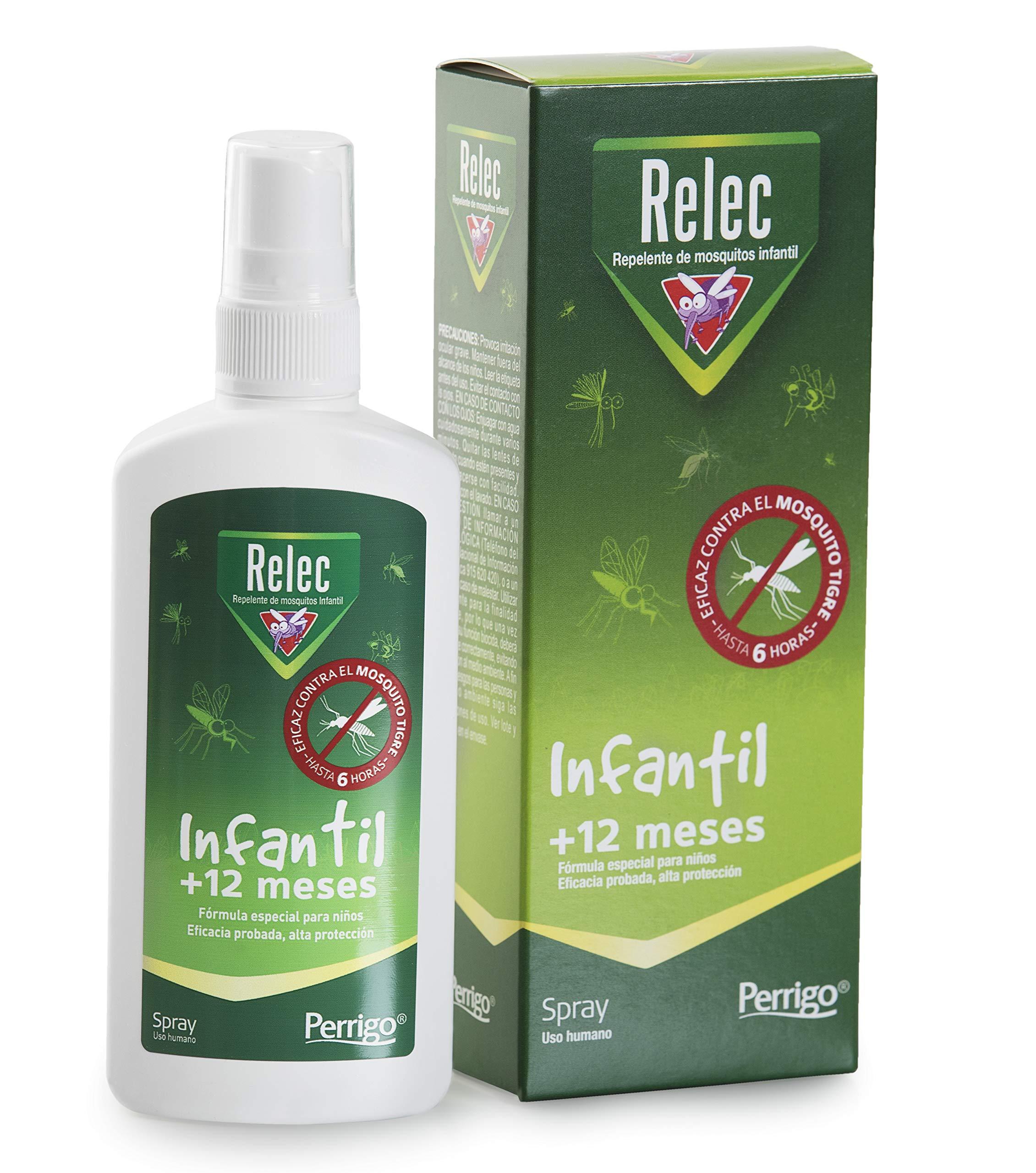 Relec Infantil Spray Eficaz Antimosquitos. Sin Alcohol. Dermatológicamente Testado. Pieles Sensibles. Bebés +12 meses. Repelente Mosquitos – 100 ml