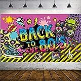 Decoraciones de Fiesta de Años 1980, Tela Extra Grande Cartel de Hip Hop de BACK TO the 80's Fondo de Foto Pancarta Kit de De