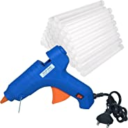 Manbhari Blue Hot Melt Standard Temperature Corded Glue Gun with 40 pcs glue sticks