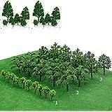 gotyou 30 delar modellträd, dioramamamodeller, modelltåglandskap, blandade modeller träd järnväg landskap dioramaträd arkitek
