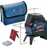 Bosch Professional GCL 2-15 - Nivel láser combinado, con puntos de plomada, 3 pilas AA, soporte giratorio RM 1, placa reflect
