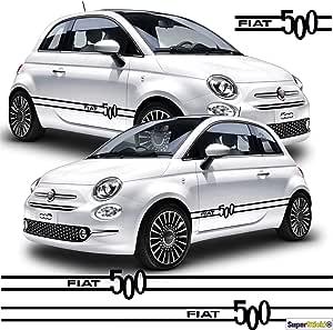 Supersticki Fiat 500 Seitenstreifen Auto Aufkleber Aufkleber Sticker Decal Aus Hochleistungsfolie Aufkleber Autoaufkleber Tuningaufkleber Racingaufkleber Rennaufkleber Hochleistungsfolie F Auto