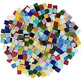 Belle Vous Tesselles Mosaique Loisir Creatif (700 Pcs / 500g) - 1 x 1cm - Assortiment de Carreaux de Mosaique Verre pour Déco