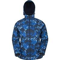 Mountain Warehouse Exodus Mens Softshell Jacket - Practical Design Casual Jacket, Water Resistant Rain Coat, Adjustable…