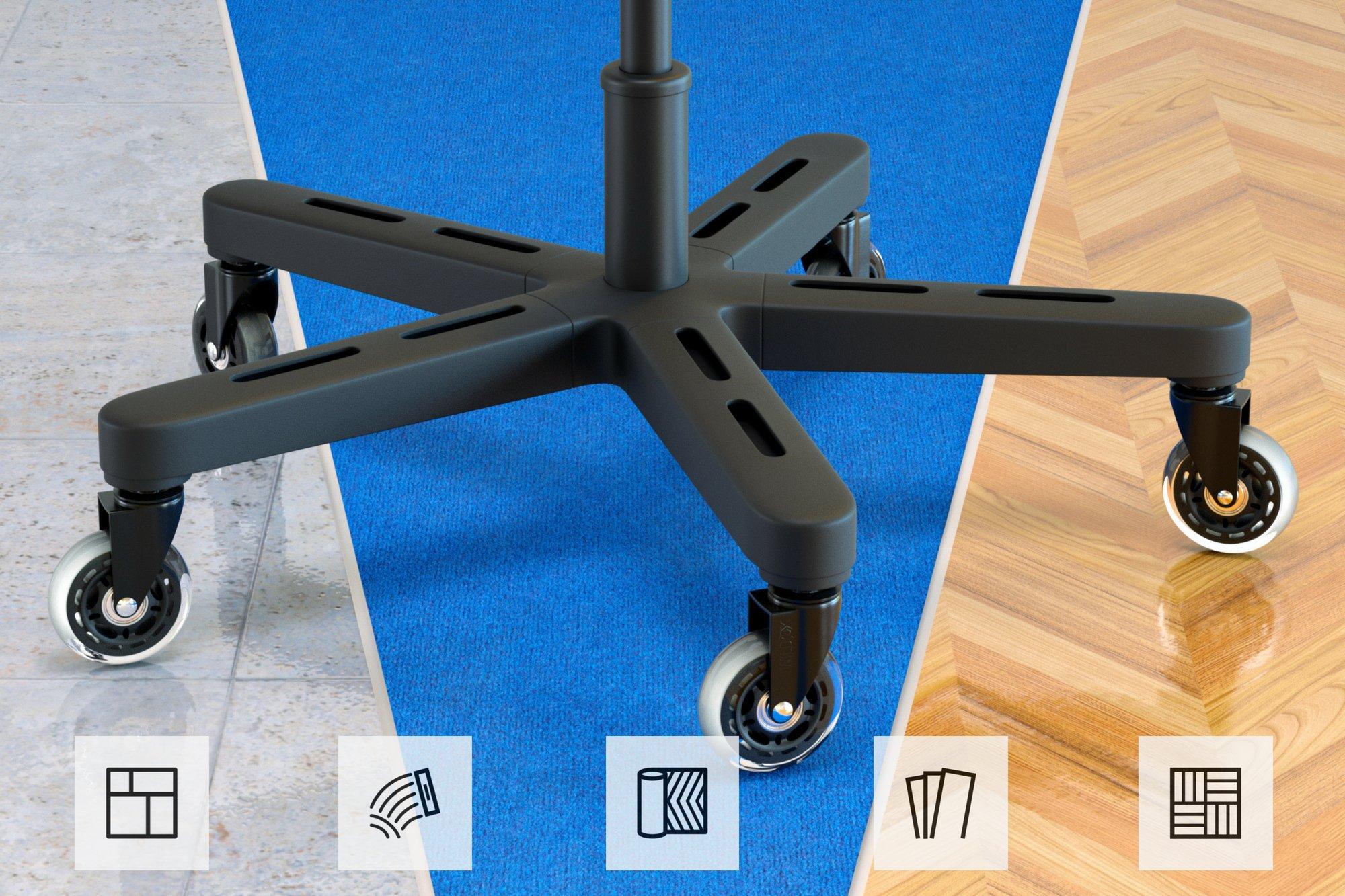 Wild ox ruote sedia ufficio rotelle per sedia di ricambio