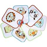 Ti TIN - Pack de 7 Baberos Impermeables para Bebés 73% Algodón - 27% Poliéster con Forro Vinilo | Lote de 7 Baberos con Cinta