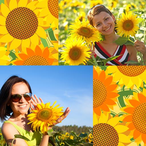Sonnenblumen-Foto-Collage