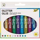 folia 574 - Glitter Lijm Sticks met glitter, 10 pennen gesorteerd in 10 kleuren, elk 9,5 ml - om te beschilderen en te versie