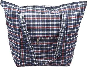 Women Travel Foldable Bag Handbag/Shopping Bag with Zipper Pouch – Blue