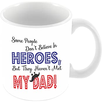 Paper Plane Design Coffee Mug Gift for Dad Father Happy Fathers Day Birthday Anniversary