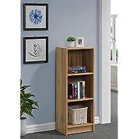 DeckUp Plank Lexis Engineered Wood 3-Shelf Storage Unit and Book Shelf (Wotan Oak)