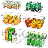 FINEW Ensemble de 6 organisateurs de réfrigérateur (4 Grands / 2 Petits), Bac de Rangement pour de Haute qualité, Organisateu