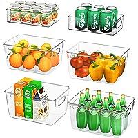 FINEW Ensemble de 6 organisateurs de réfrigérateur (4 Grands / 2 Petits), Bac de Rangement pour de Haute qualité…
