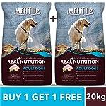 Meat Up Adult Dog Food, 10 kg (Buy 1 Get 1 Free)